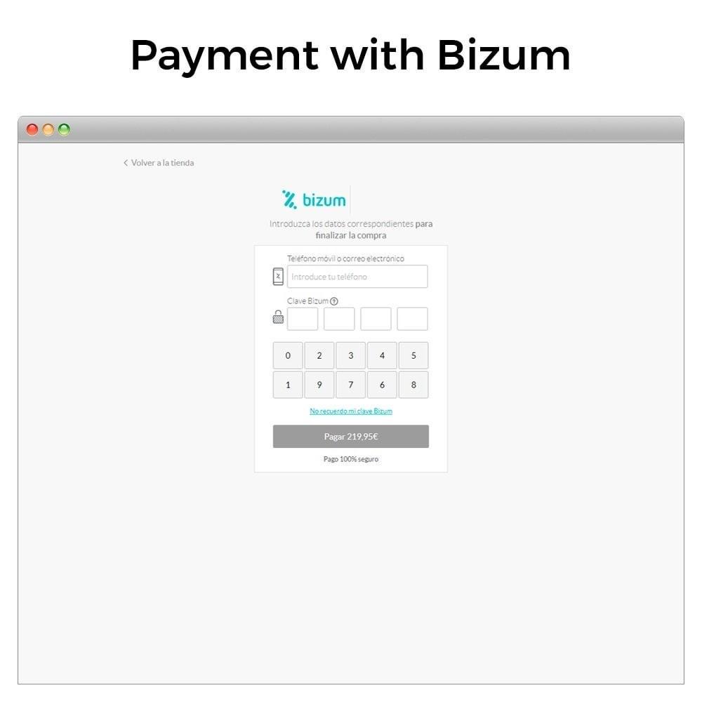 module - Pagamento con Carta di Credito o Wallet - Bizum - Mobile payment (with fees and discounts) - 3