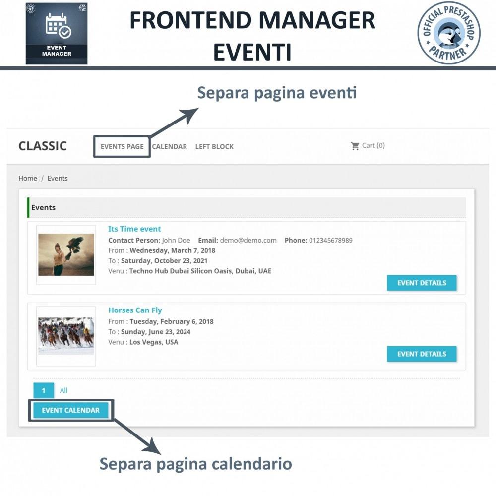 module - Prenotazioni & Noleggi - Manager degli Eventi, Crea Eventi & Vendi biglietti - 7