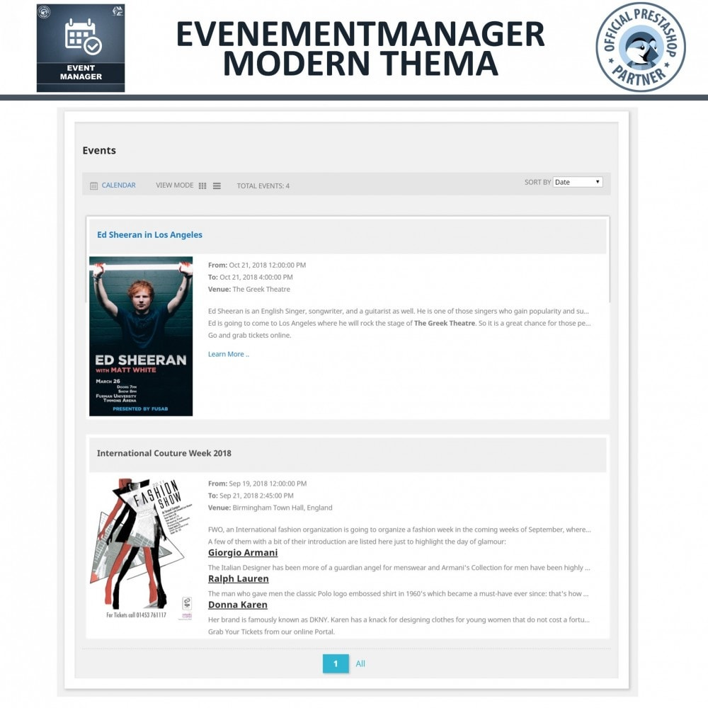 module - Verhuur en reserveringen - Evenementen Manager, Maak Evenementen en Verkoop Ticket - 2
