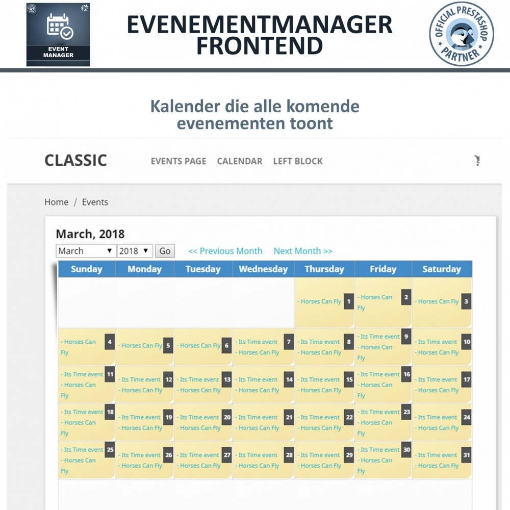 module - Verhuur en reserveringen - Evenementen Manager, Maak Evenementen en Verkoop Ticket - 8