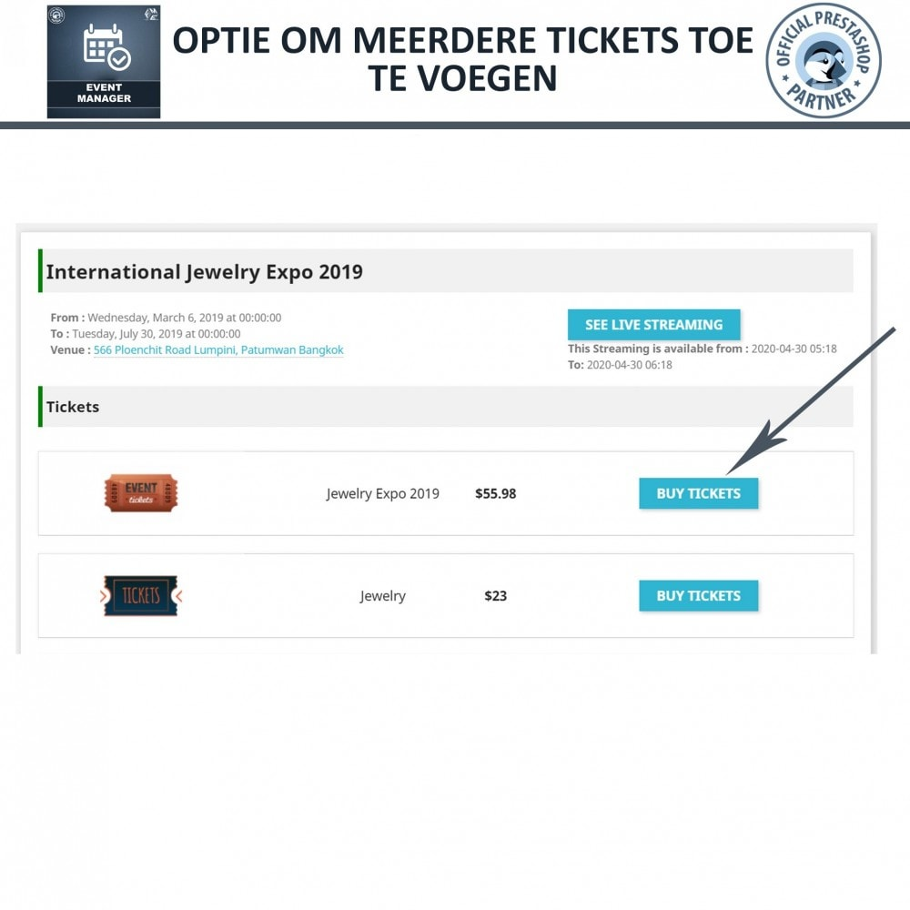 module - Verhuur en reserveringen - Evenementen Manager, Maak Evenementen en Verkoop Ticket - 10