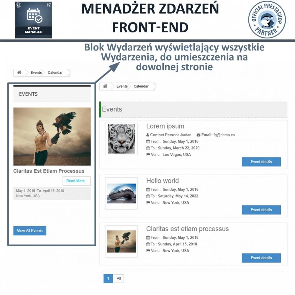 module - Wynajmu i rezerwacji - Menadżer wydarzeń, Twórz Wydarzenia i Sprzedawaj Bilety - 9
