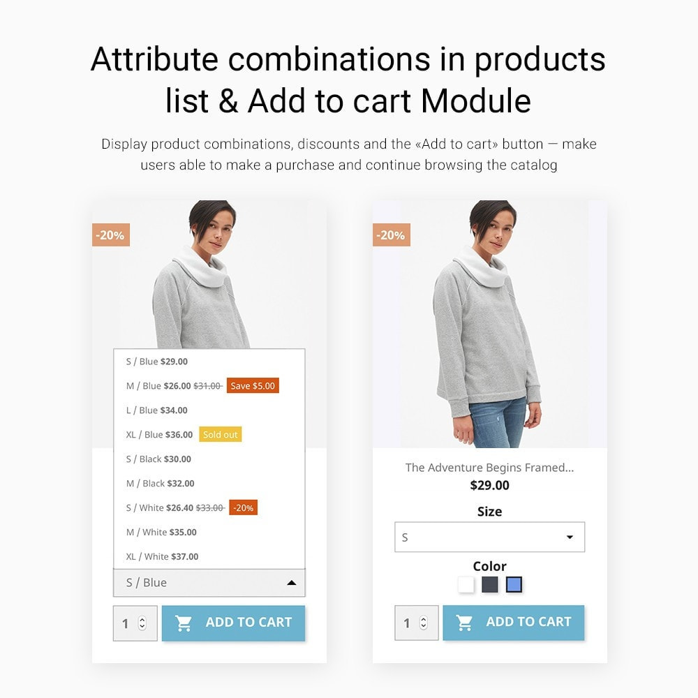 module - Bundels & Personalisierung - Show Attribute combinations in products list - 1