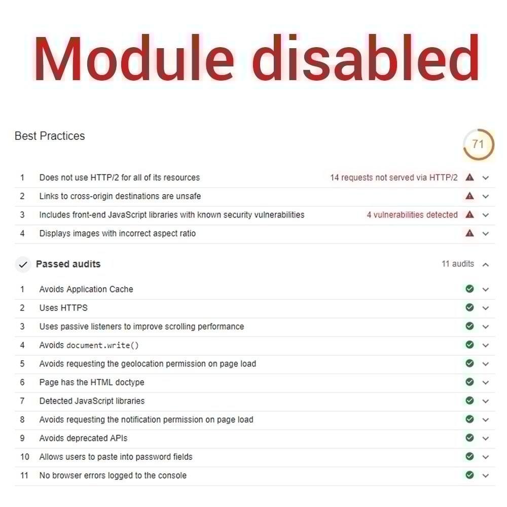 module - Website Performance - Default Passive Events - 2