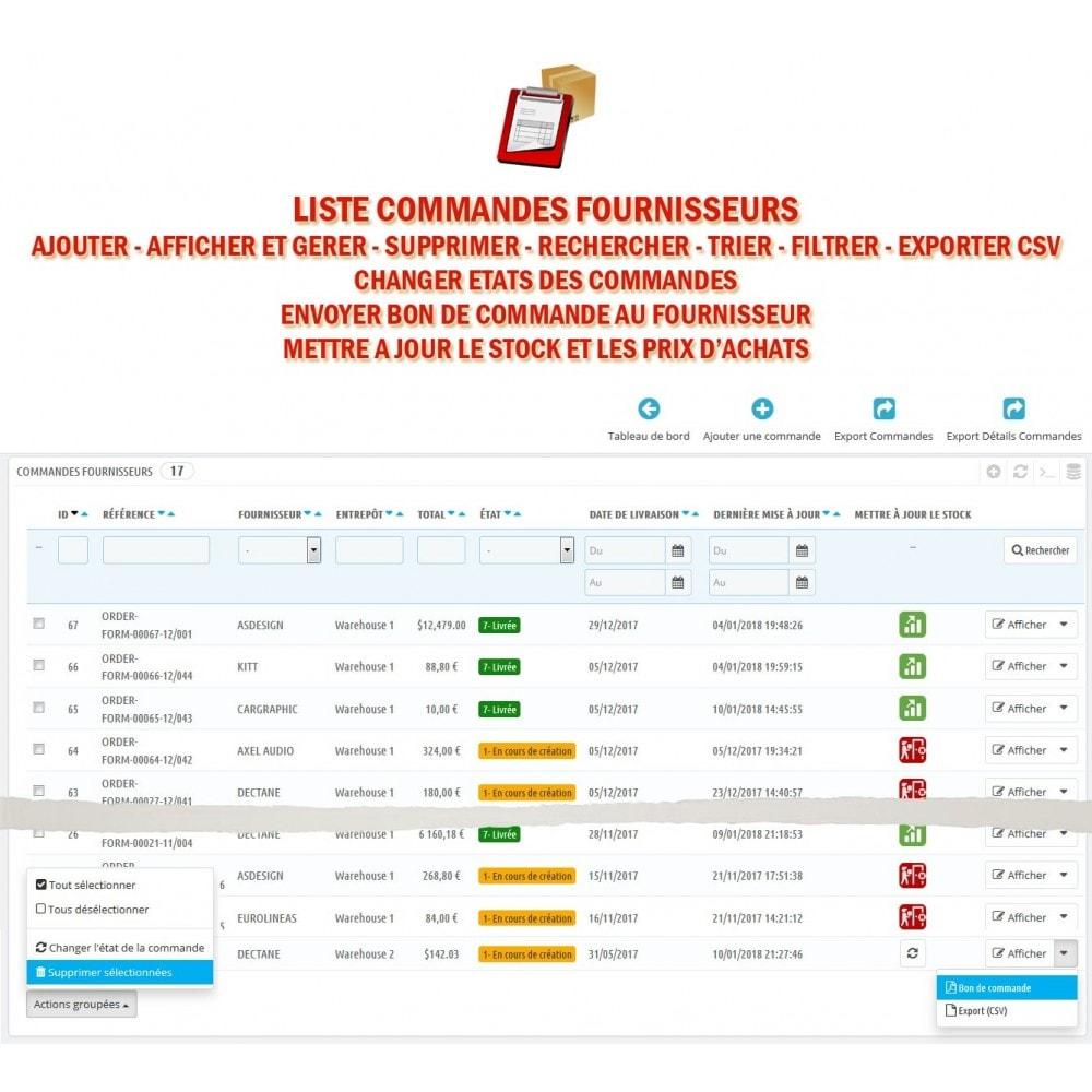 module - Gestion des Commandes - Wk Gestion Commandes Fournisseurs - 2