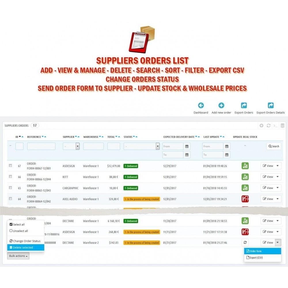 module - Orderbeheer - WK Suppliers Orders Management - 2