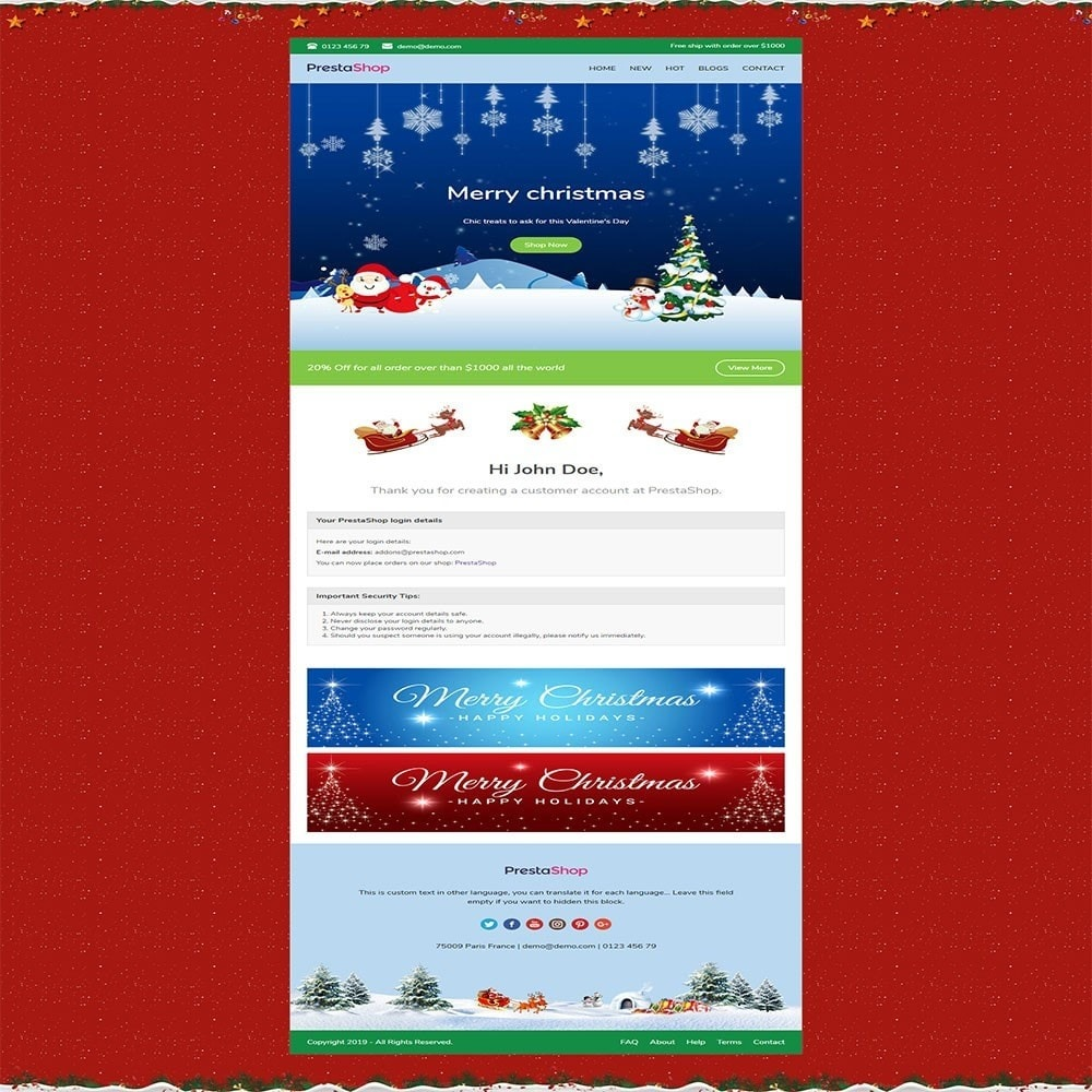 email - Plantillas de correos electrónicos PrestaShop - One for All - Template emails and for emails of modules - 6