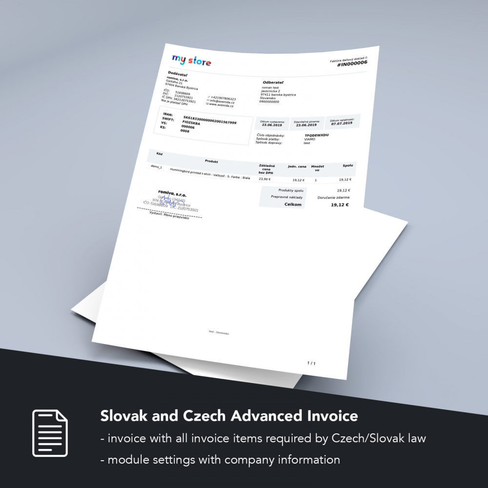 module - Accounting & Invoicing - Slovak and Czech Advanced Invoice - 1