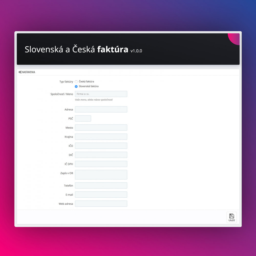 module - Accounting & Invoicing - Slovak and Czech Advanced Invoice - 2