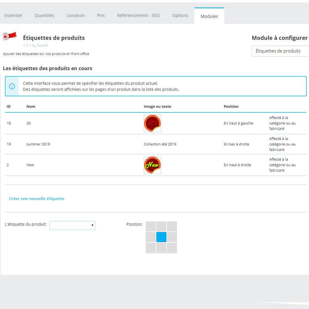 module - Etiquettes & Logos - Autocollants et étiquettes sur les produits - 11