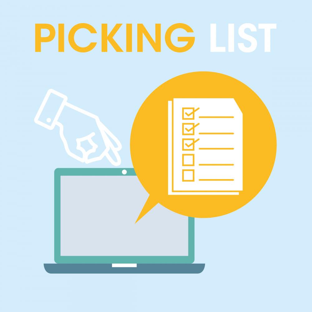 module - Préparation & Expédition - Picking list - liste des produits à expédier - 1