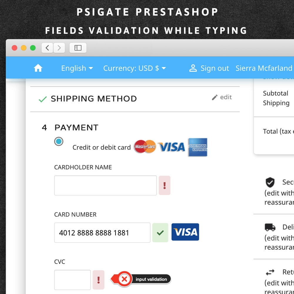 module - Payment by Card or Wallet - PsiGate credit card transactions API - 3