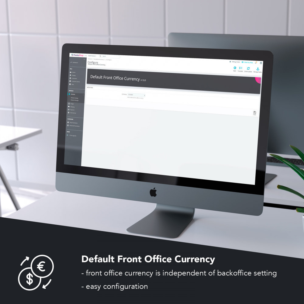 module - Międzynarodowość & Lokalizacja - Default Front Office Currency - 1