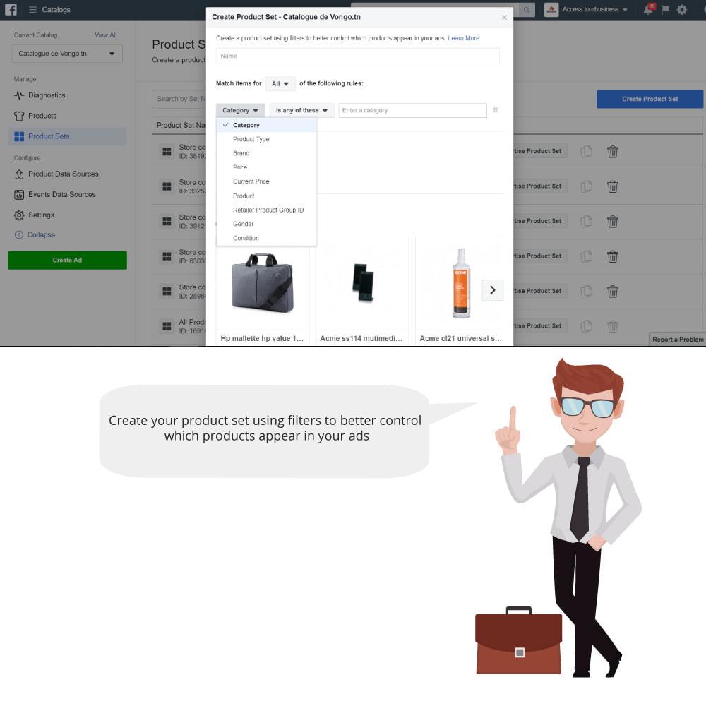 module - Productos en Facebook & redes sociales - Catalog & Pixel for Dynamic Ads & Shop - 4