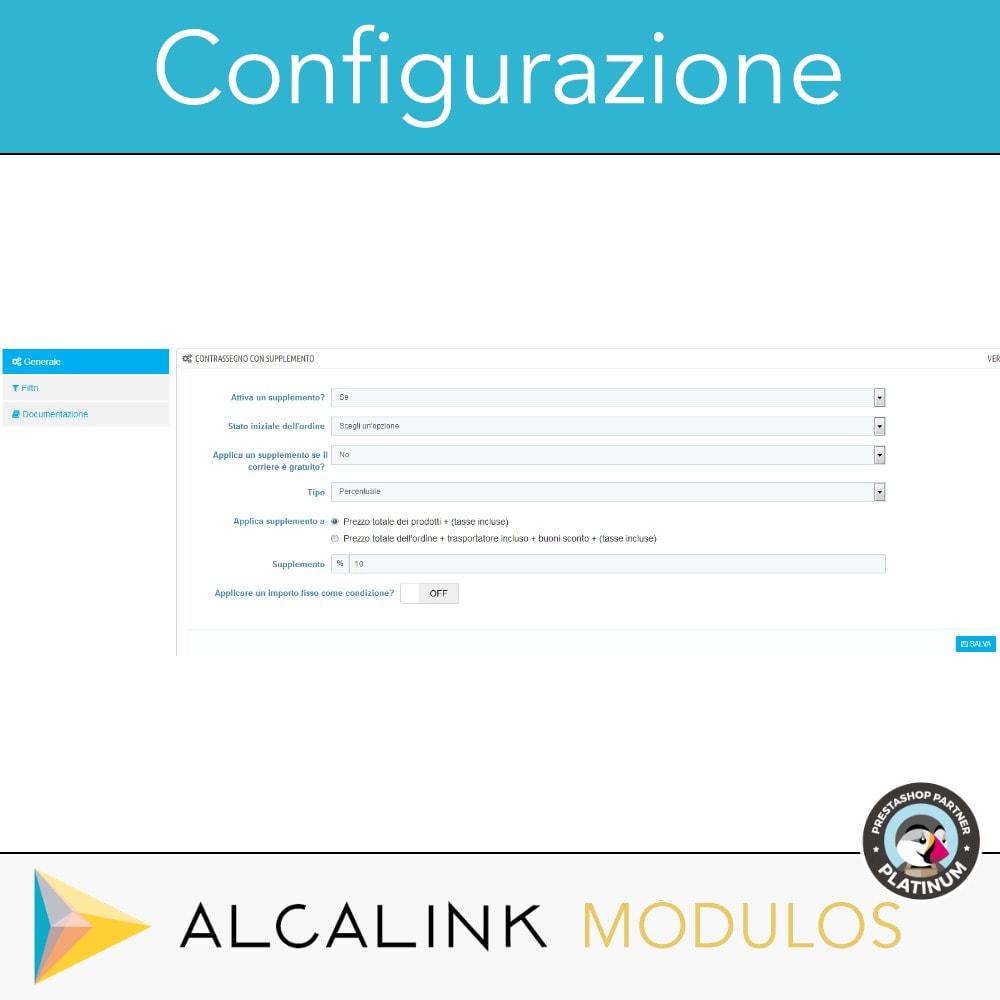module - Pagamento alla Consegna (in contrassegno) - Contrassegno con commissione/sovrapprezzo - 2
