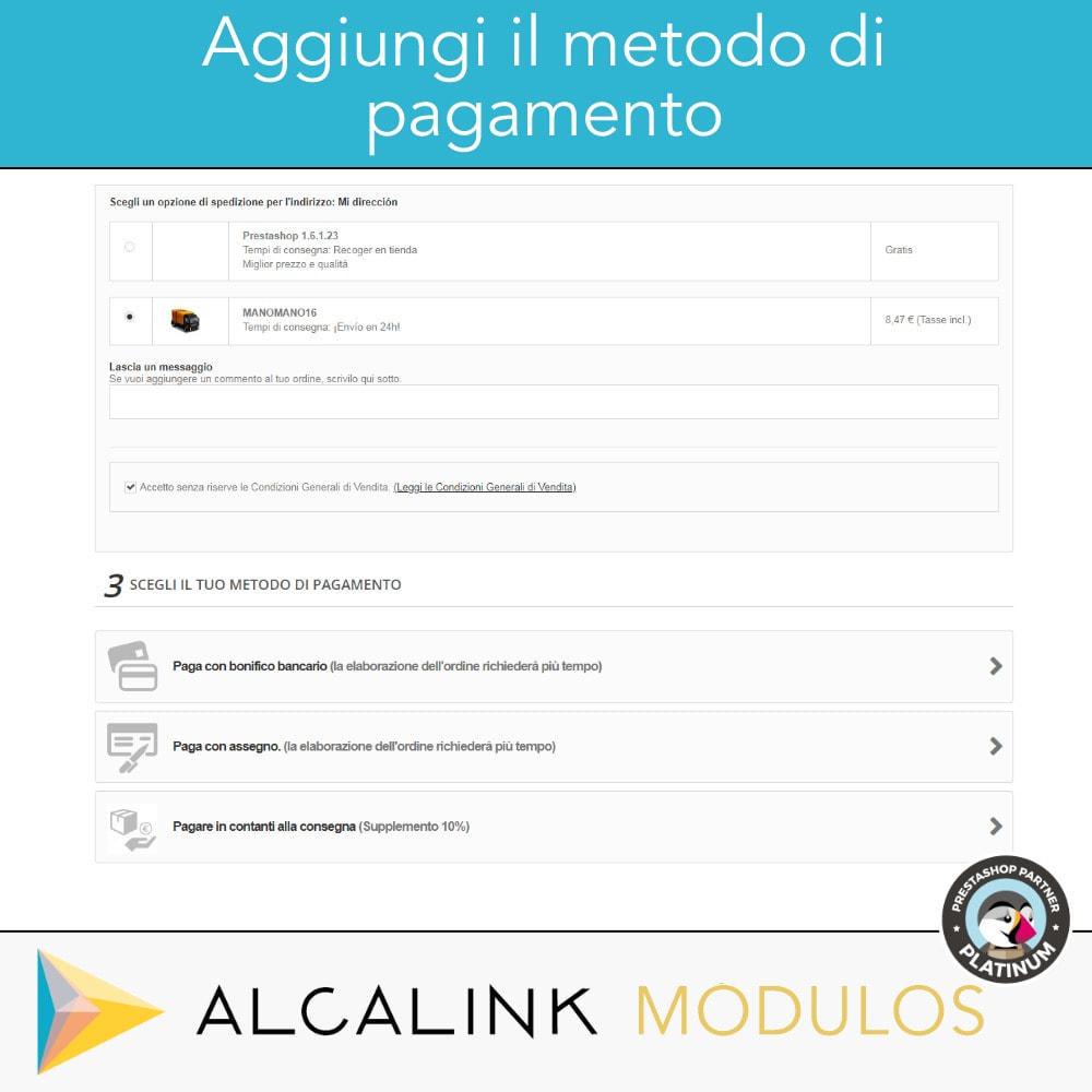 module - Pagamento alla Consegna (in contrassegno) - Contrassegno con commissione/sovrapprezzo - 4