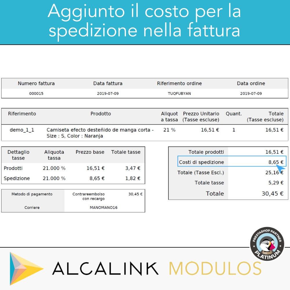 module - Pagamento alla Consegna (in contrassegno) - Contrassegno con commissione/sovrapprezzo - 6