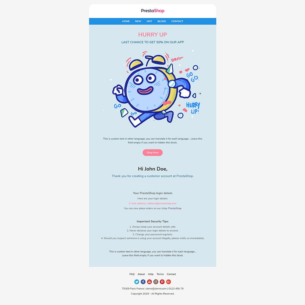 email - Plantillas de correos electrónicos PrestaShop - One for All - Template emails and for emails of modules - 9