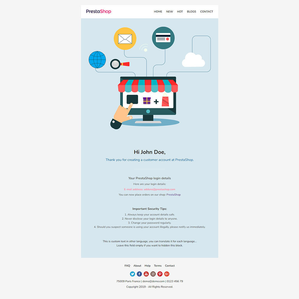 email - Plantillas de correos electrónicos PrestaShop - One for All - Template emails and for emails of modules - 10