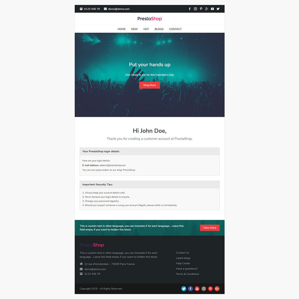 email - Template di e-mail PrestaShop - Dolly - Template for emails and for emails of modules - 3