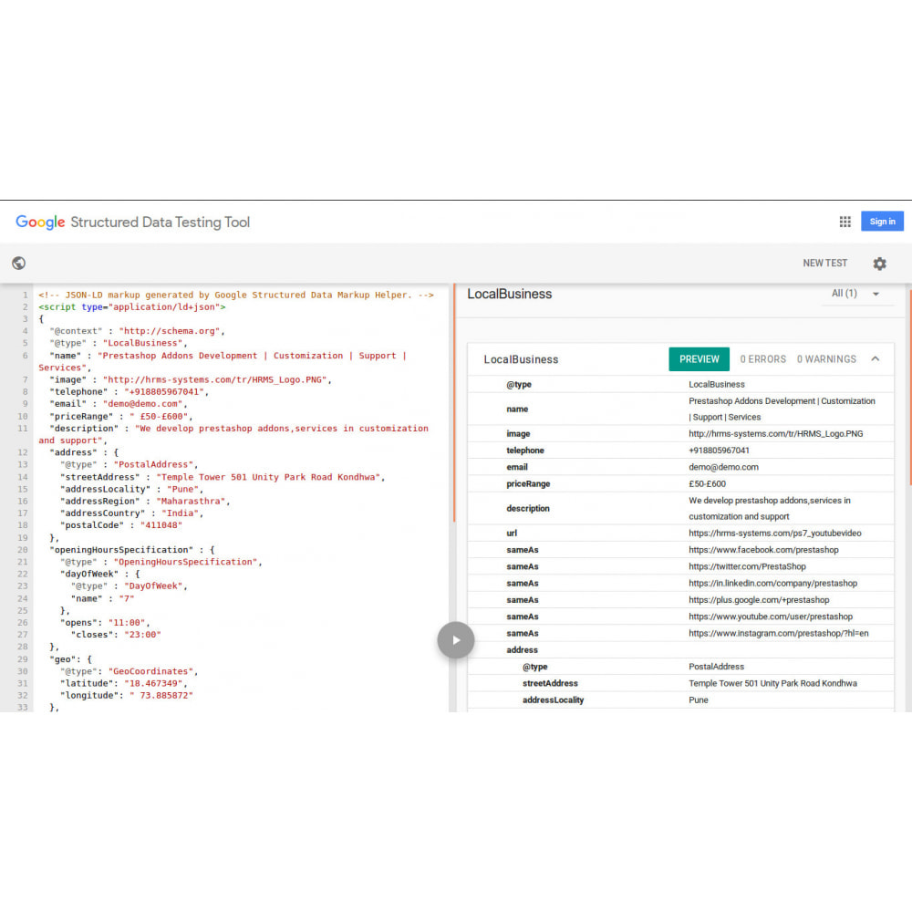 module - SEO (Indicizzazione naturale) - Markup di SEO Structured Data Schema e rich snippet - 2