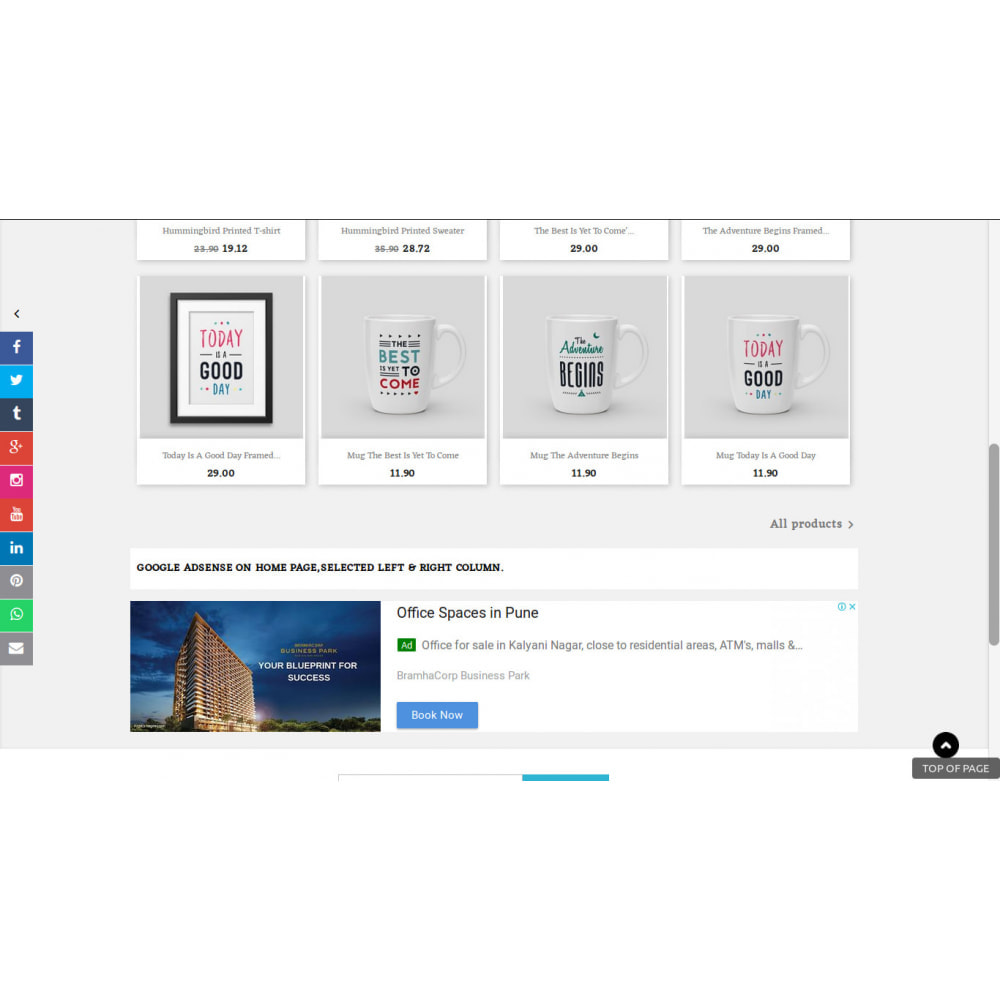 module - Widgets sozialer Netzwerke - Social Media Sidebar Links Buttons - 1