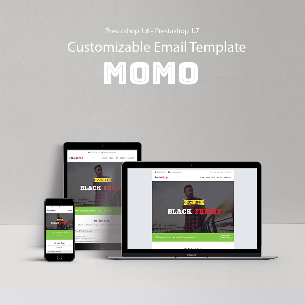 email - Szablony e-mail PrestaShop - Momo - Template emails and for emails of module - 1