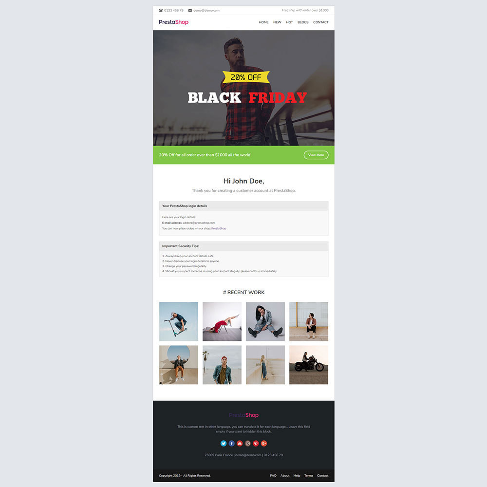 email - Szablony e-mail PrestaShop - Momo - Template emails and for emails of module - 3