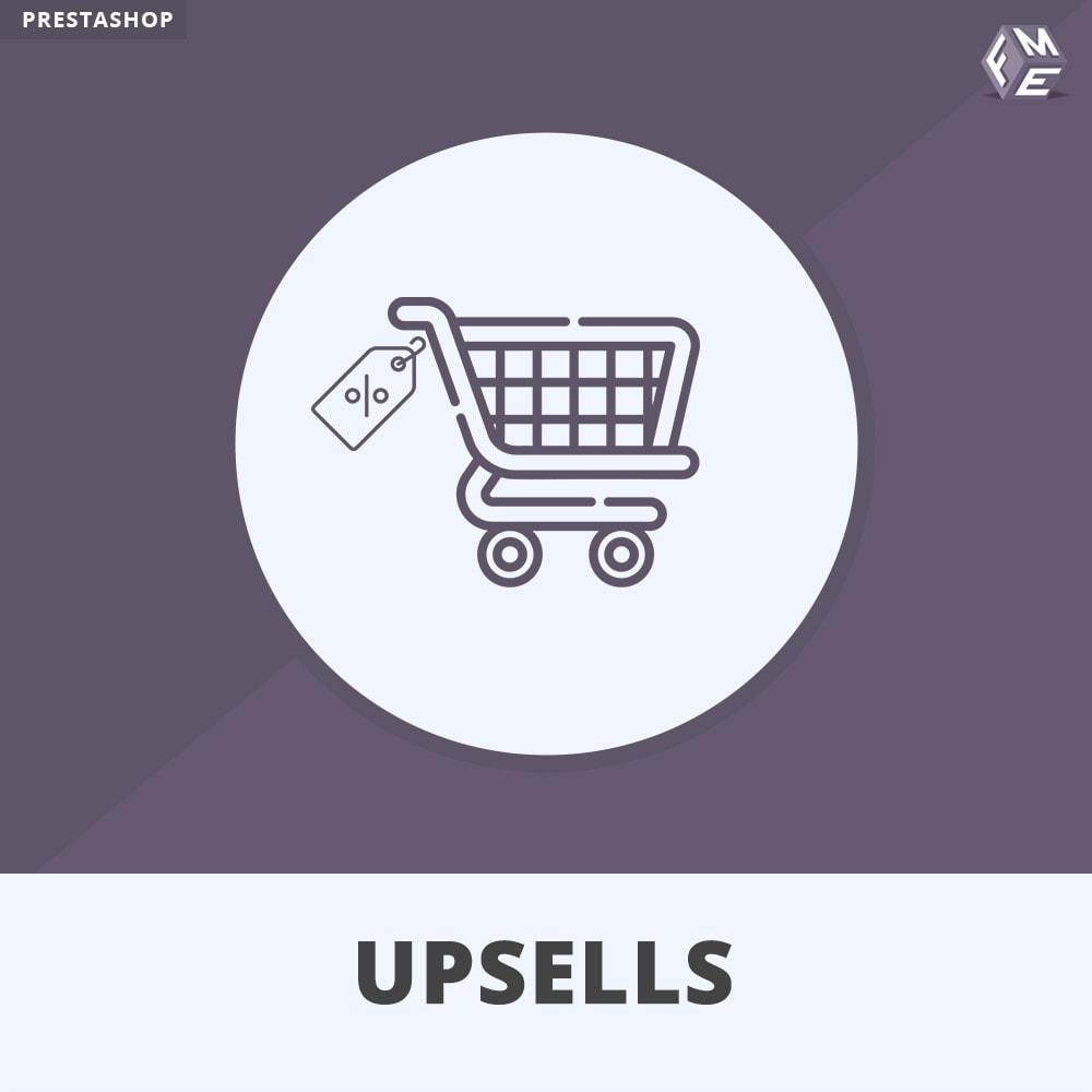 module - Vendas cruzadas & Pacotes de produtos - Upsell Products - Push on Cart - 1