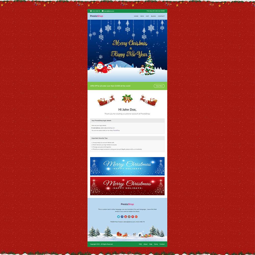 email - Plantillas de correos electrónicos PrestaShop - Christmas - Template emails and for emails of module - 3