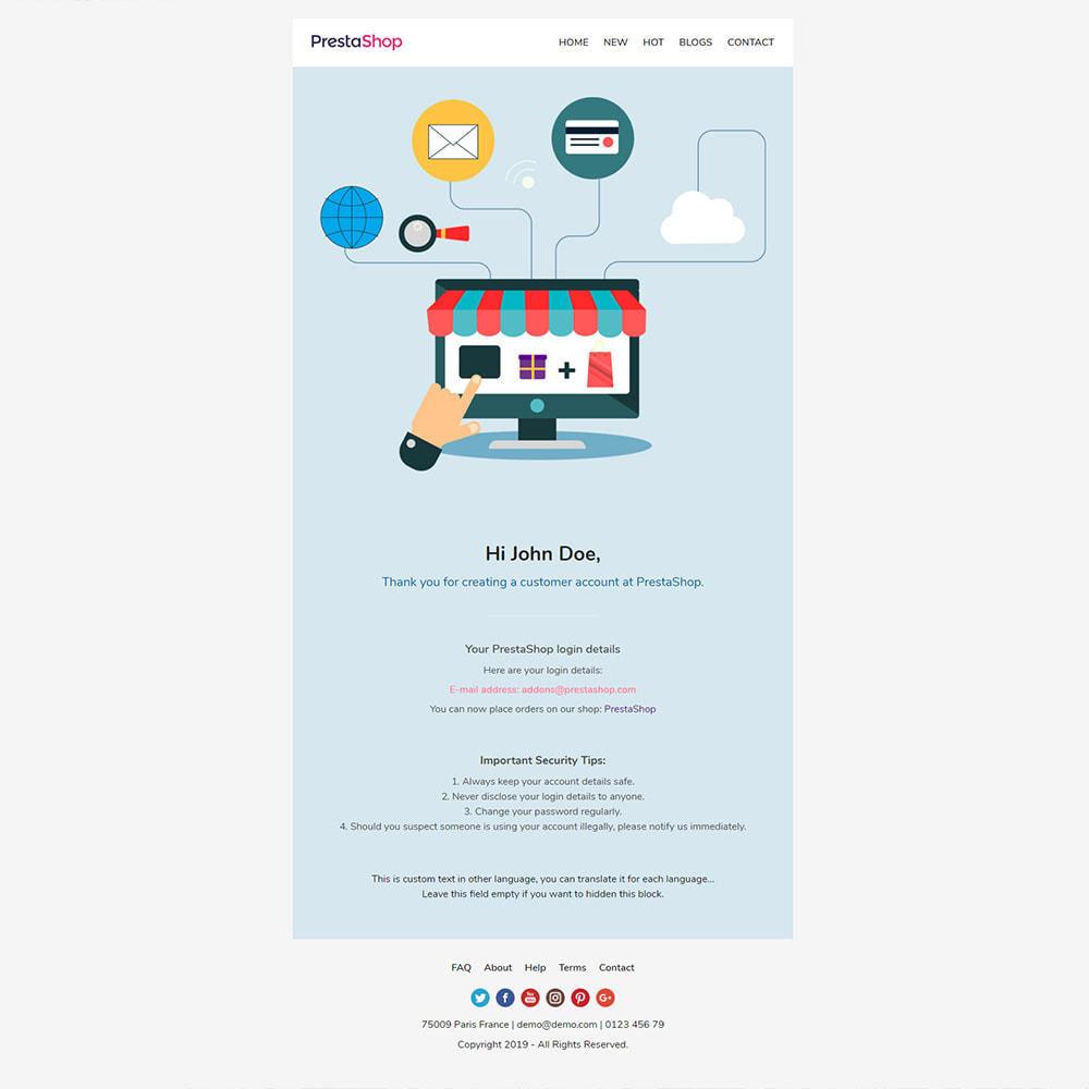 email - Modelos de e-mails da PrestaShop - Shopping - Template emails and for emails of module - 3