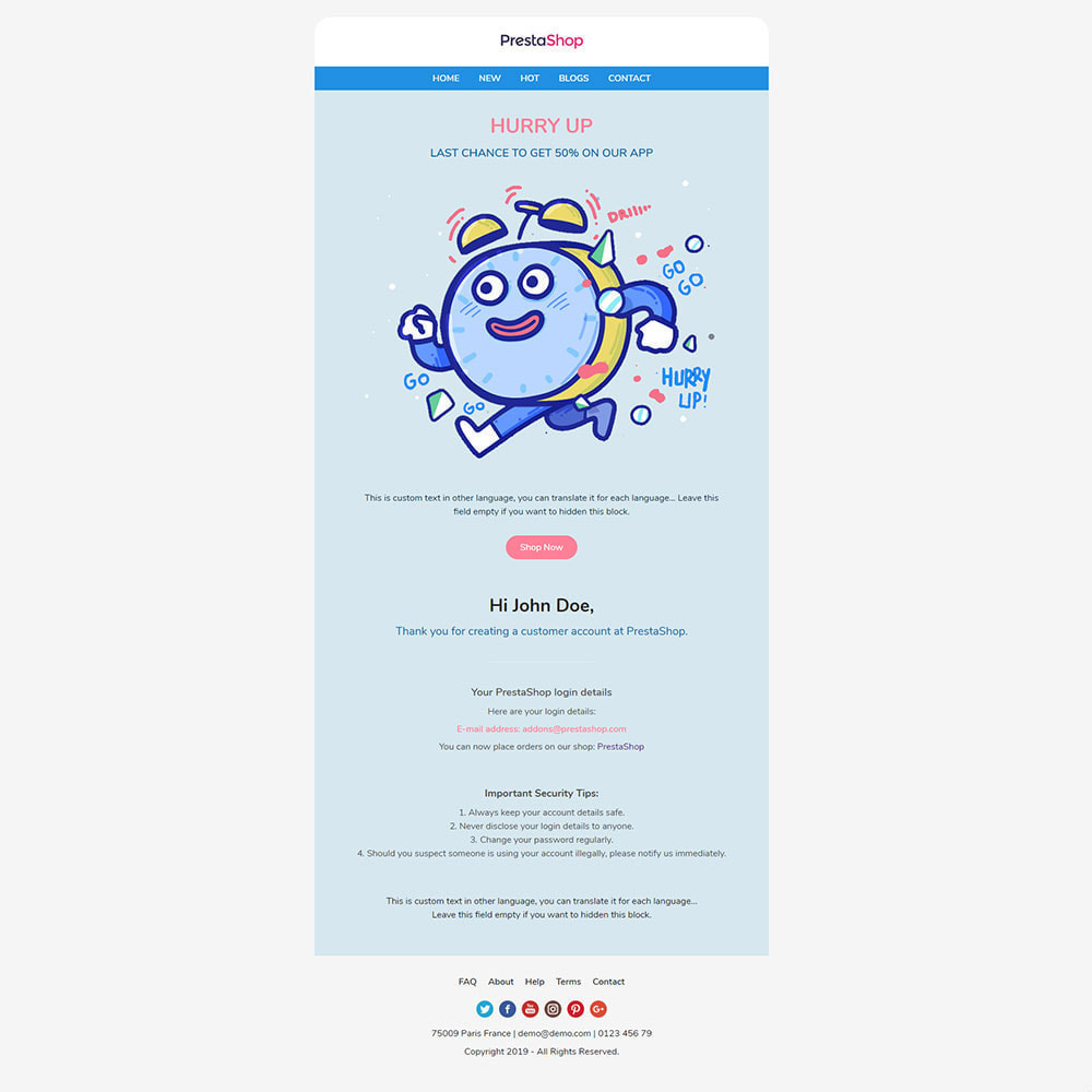 email - E-mailtemplates van PrestaShop - Hurry Up - Template emails and for emails of module - 3
