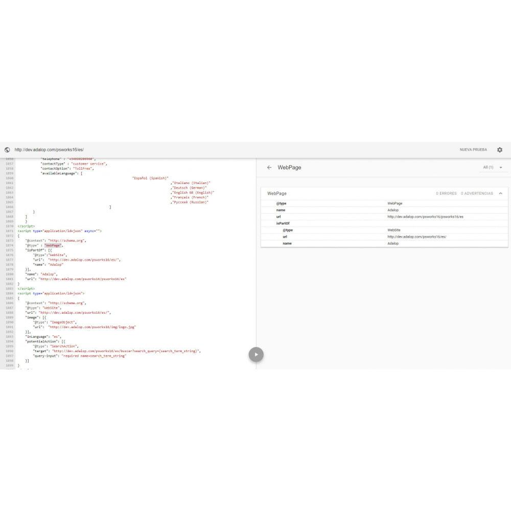 module - SEO (Posicionamiento en buscadores) - Integración JSON-LD MICRODATOS y OPEN GRAPH - SEO - 21