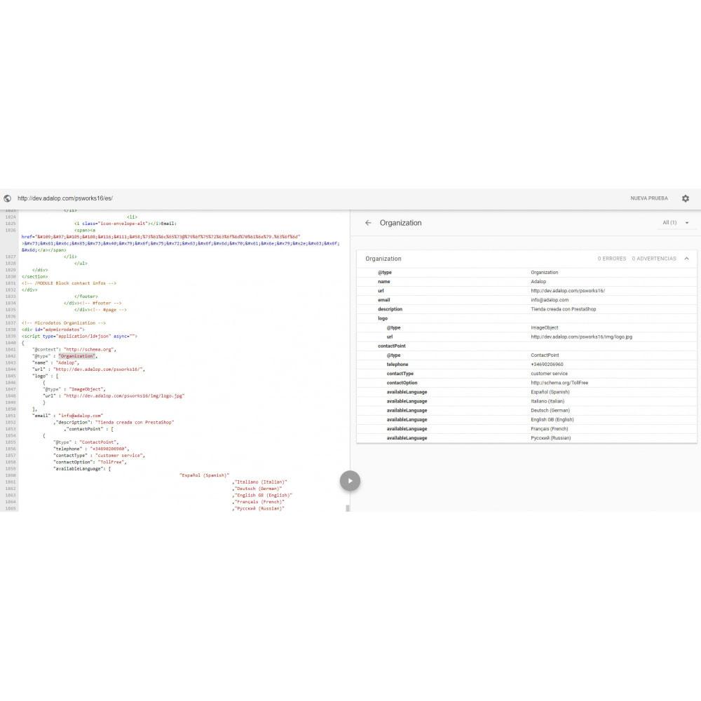module - SEO (référencement naturel) - Intégration JSON-LD MICRODONNÉES et OPEN GRAPH - SEO - 19