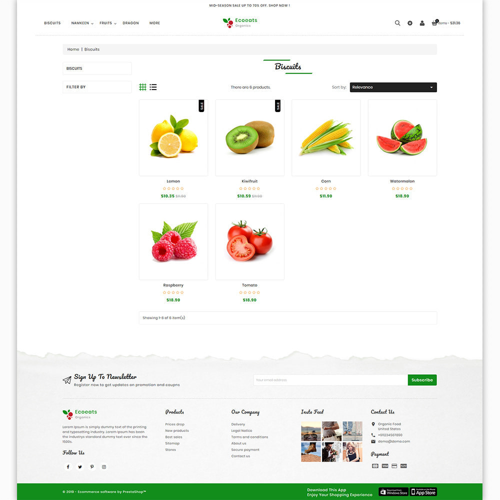 theme - Food & Restaurant - EcoEat - Organic Food & Agriculture - 3