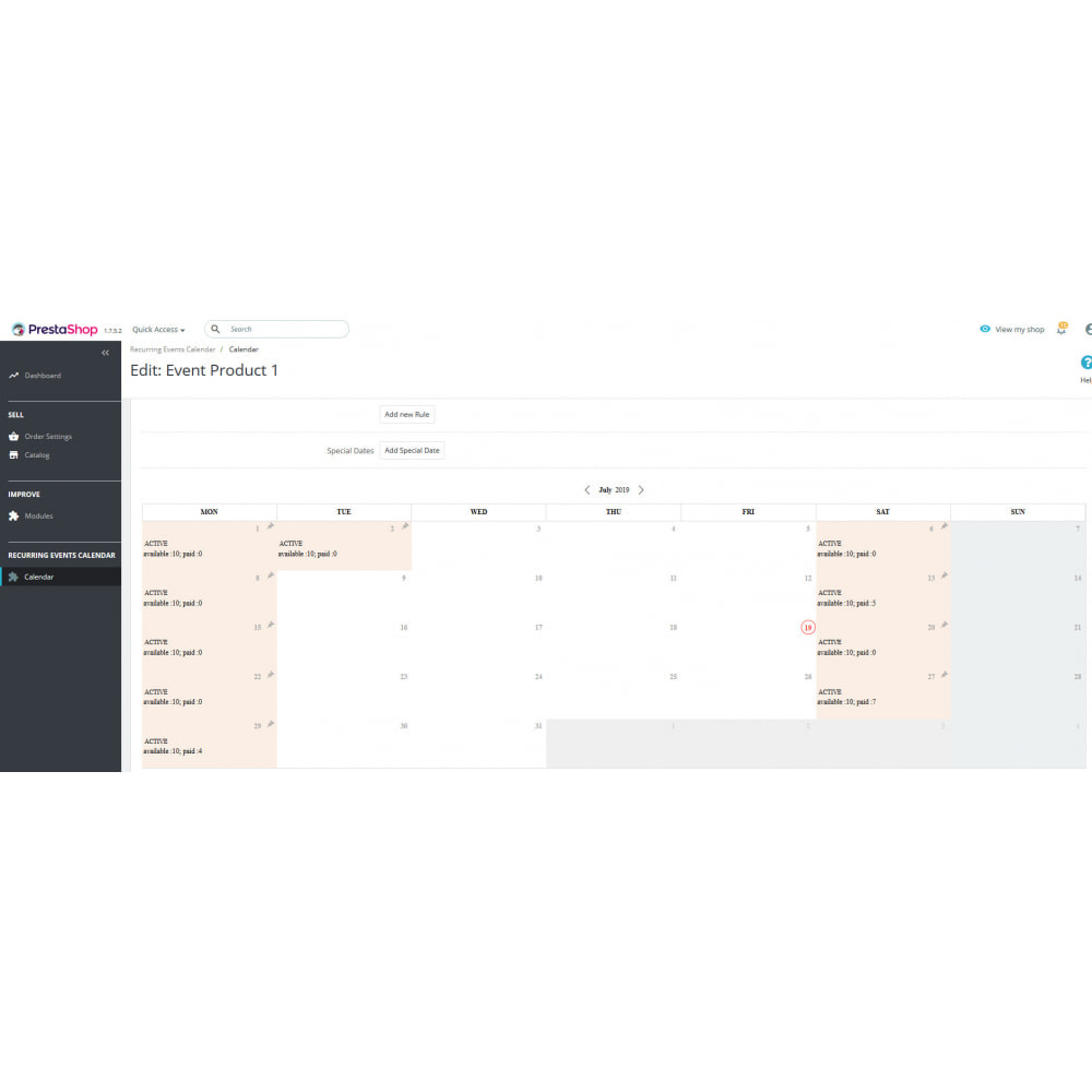 module - Reservation & Rental System - Recurring Events Calendar PRO, Sell Your Events Online - 6