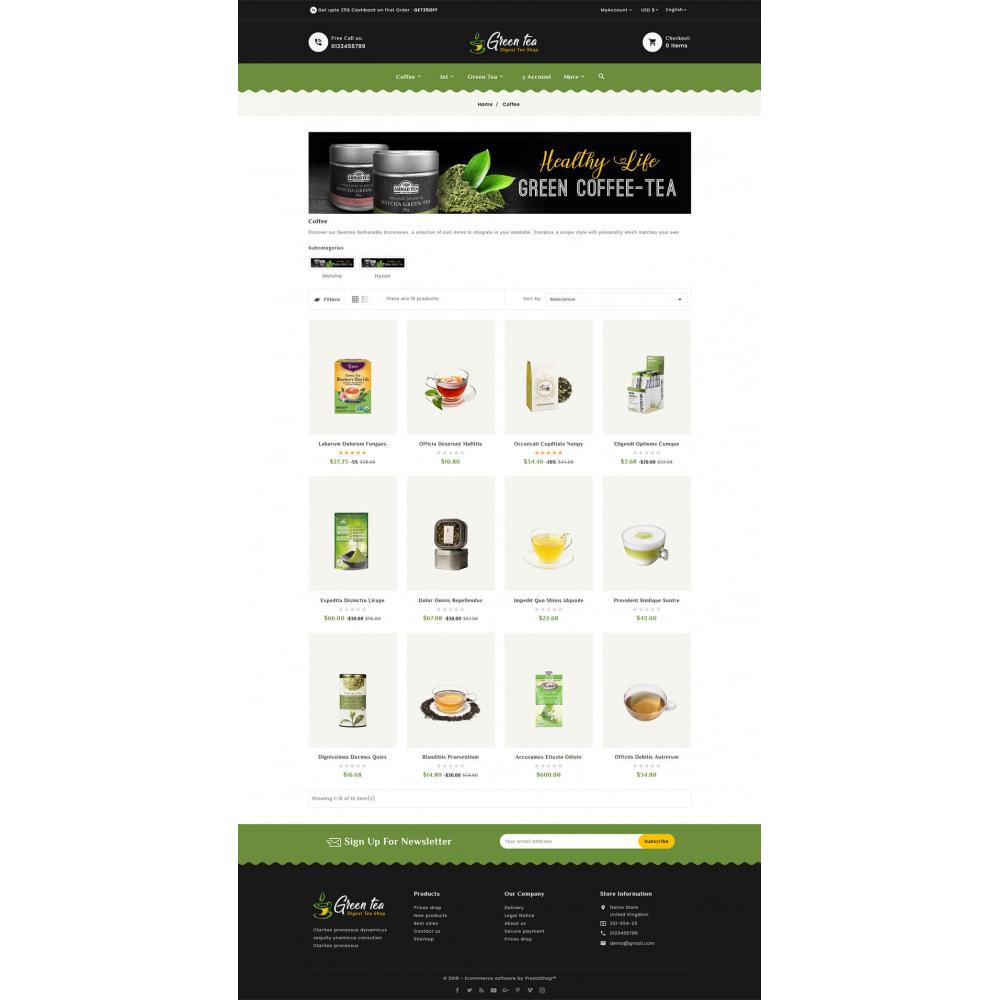 theme - Salud y Belleza - Green Tea - Digest Tea Shop - 3