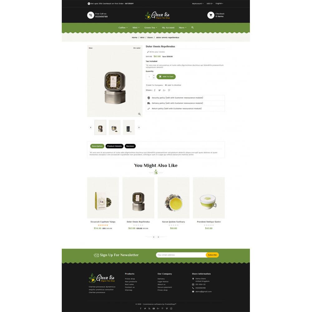 theme - Salud y Belleza - Green Tea - Digest Tea Shop - 5