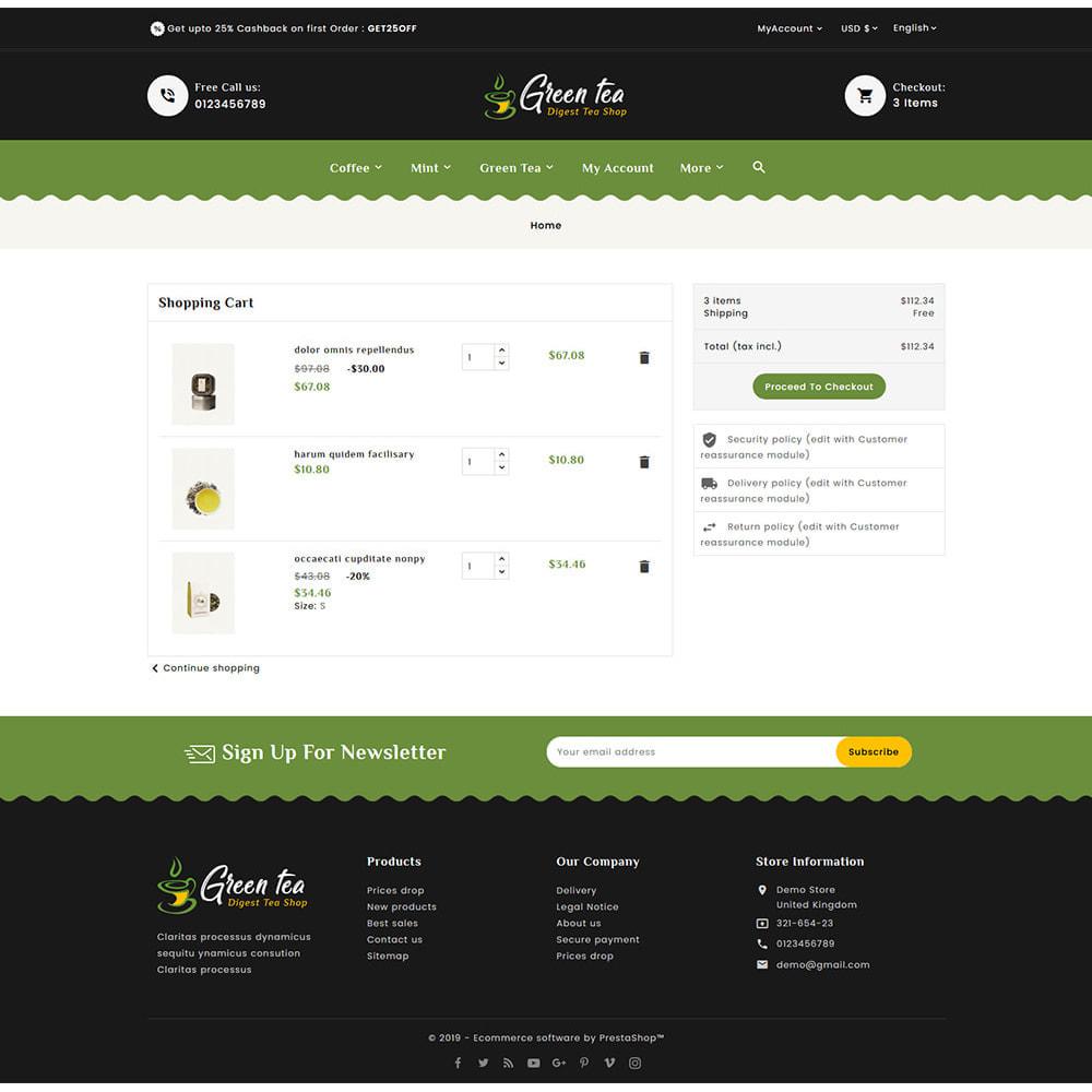 theme - Salud y Belleza - Green Tea - Digest Tea Shop - 6