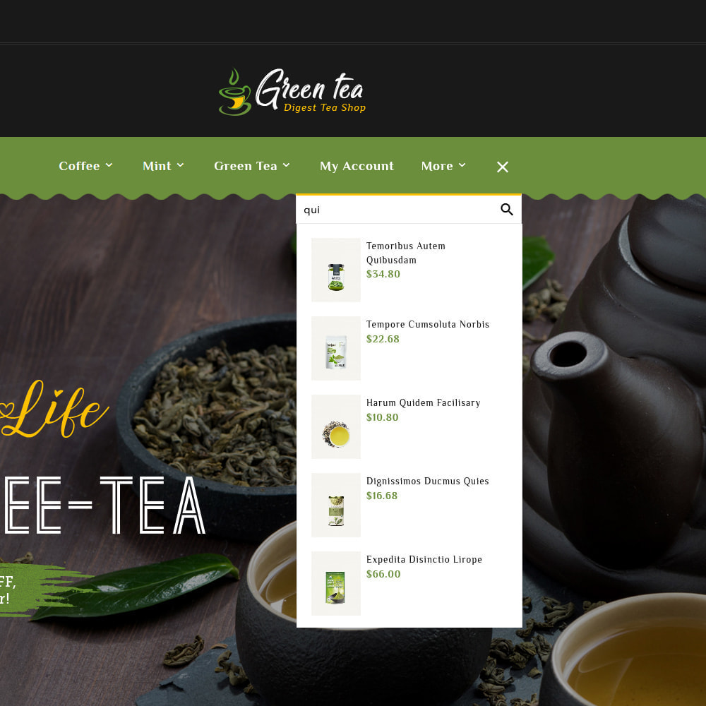 theme - Salud y Belleza - Green Tea - Digest Tea Shop - 10