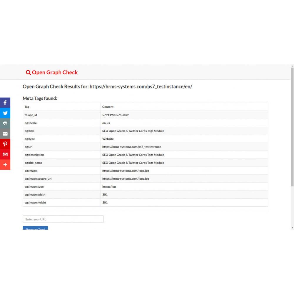 module - SEO (Indicizzazione naturale) - Generatore di tag SEO Open Graph e Twitter Card - 4