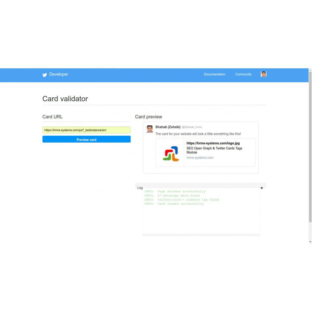 module - SEO (référencement naturel) - Référencement Open Graph & Twitter Card Tags Generator - 5