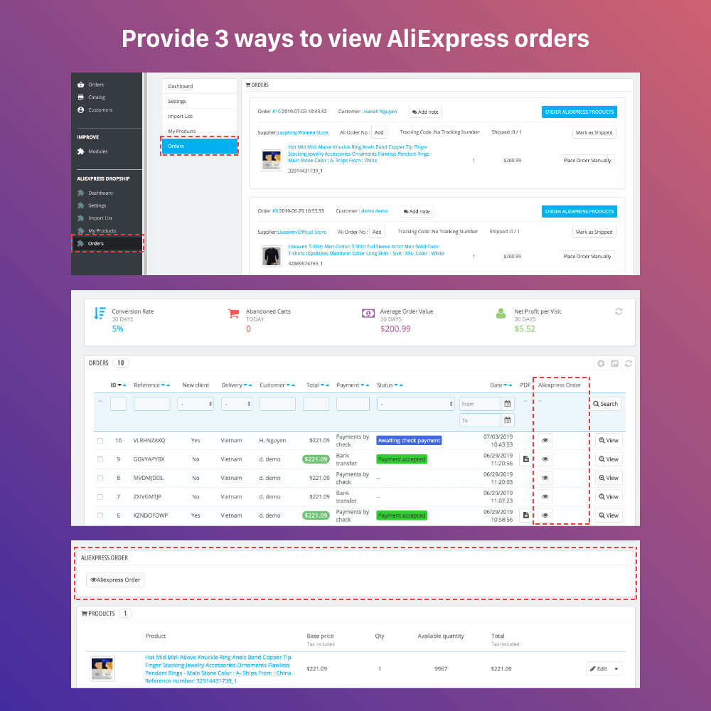 module - Dropshipping - AliExpress Dropshipping PRO - All in One - 14
