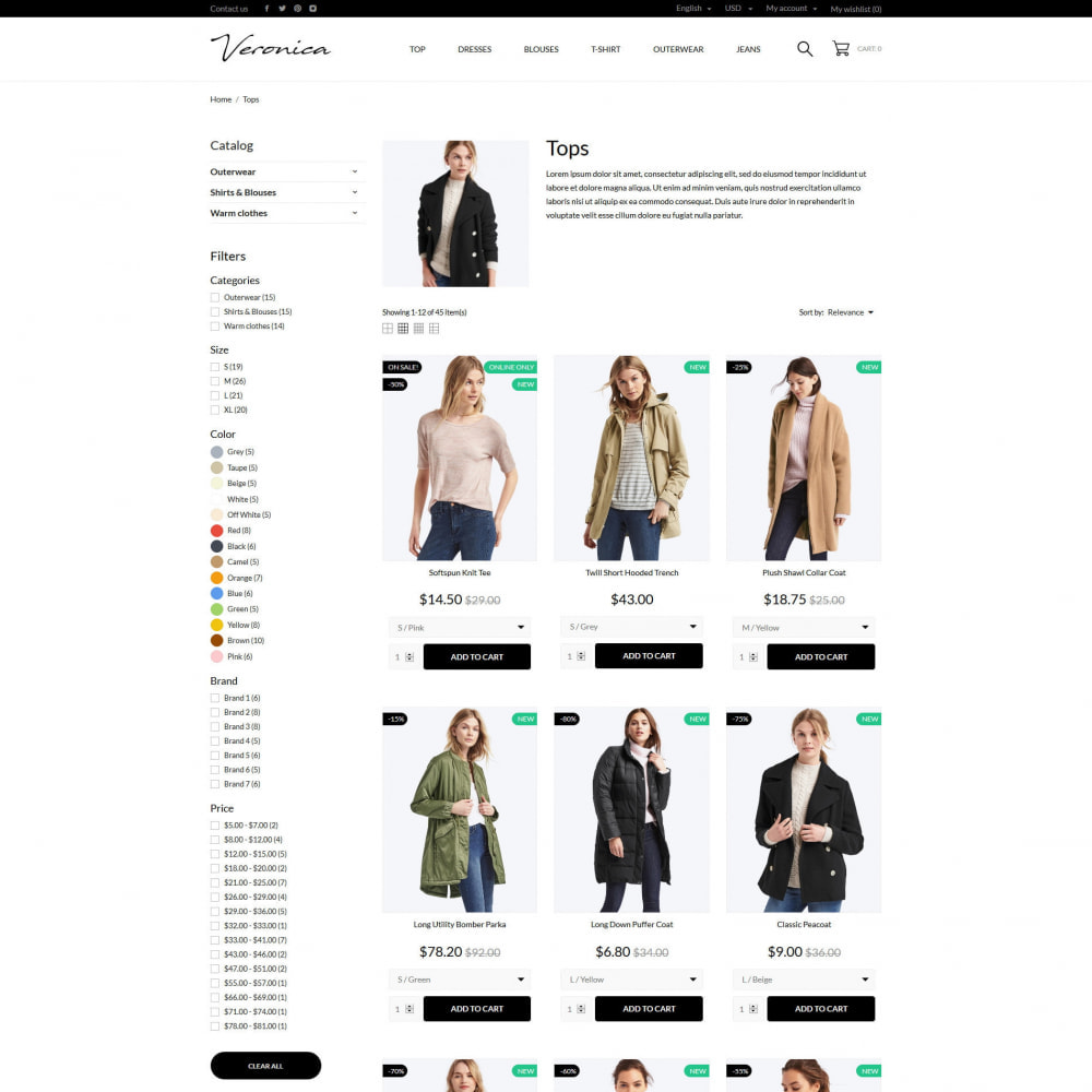 theme - Mode & Chaussures - Veronica Fashion Store - 14