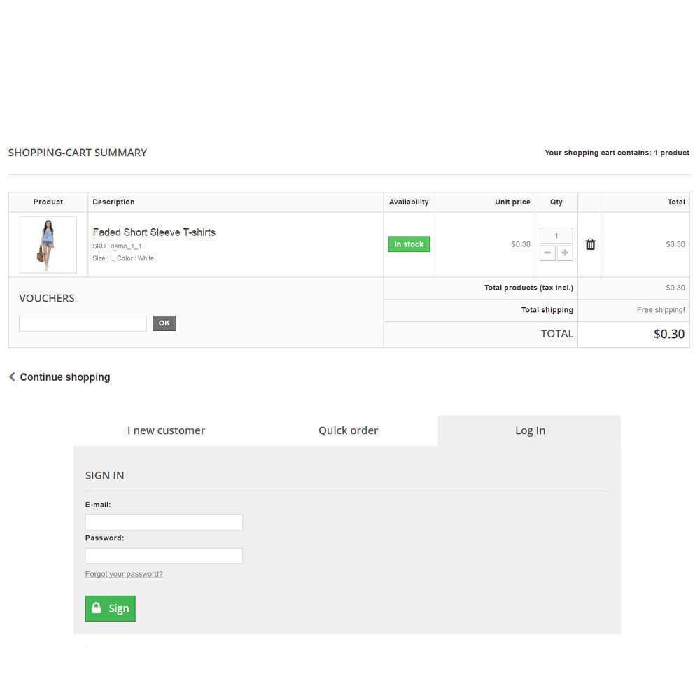 module - Anmeldung und Bestellvorgang - Scheckout Fast Cart Checkout - 4