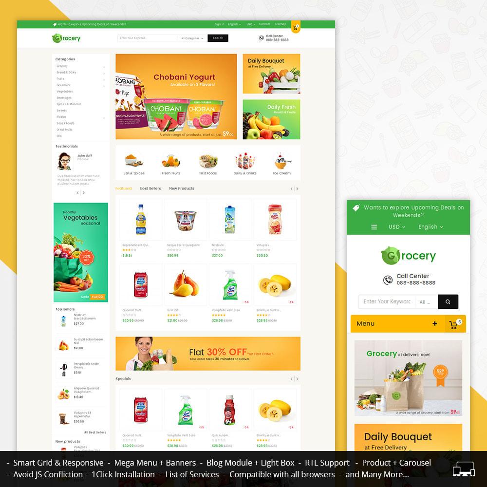 theme - Żywność & Restauracje - Mega Grocery Store - 1