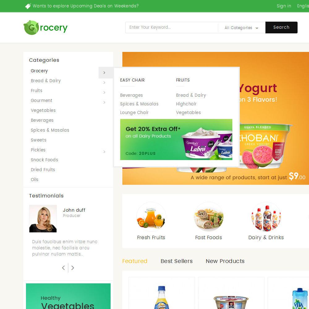 theme - Żywność & Restauracje - Mega Grocery Store - 8