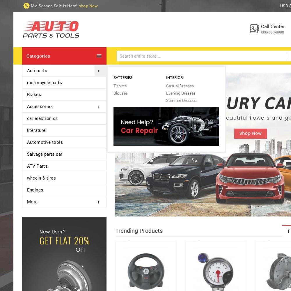 theme - Авто и Мото - Auto Parts Mega Store - 9