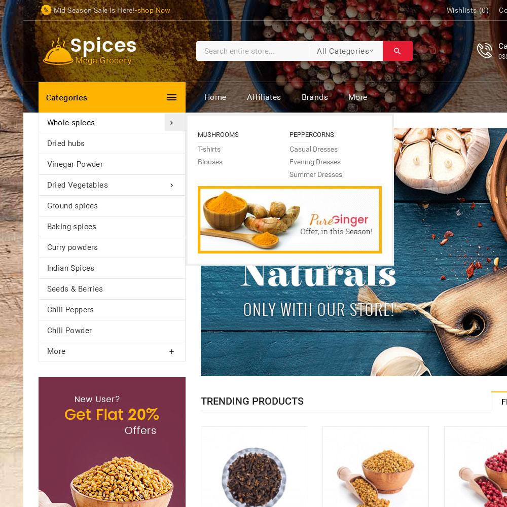 theme - Lebensmittel & Restaurants - Spices Mega Store - 9