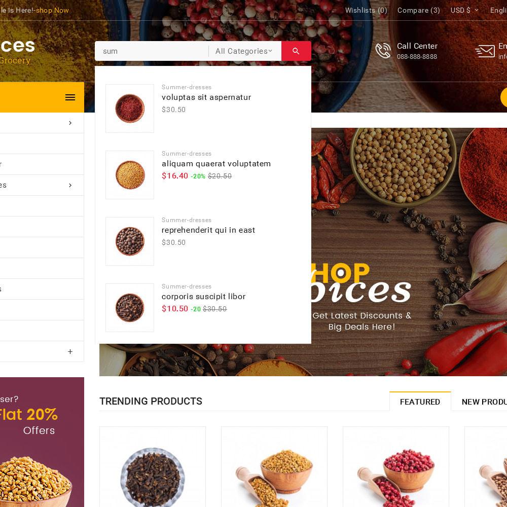theme - Lebensmittel & Restaurants - Spices Mega Store - 10